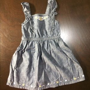 2T Girls Chambray Dress